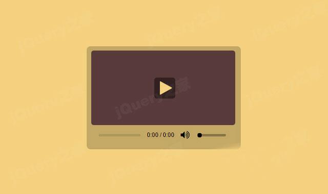 HTML5音频视频播放器UI特效代码