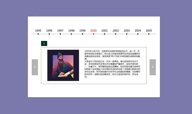 jQuery大屏图文切换时间轴可循环播放插件