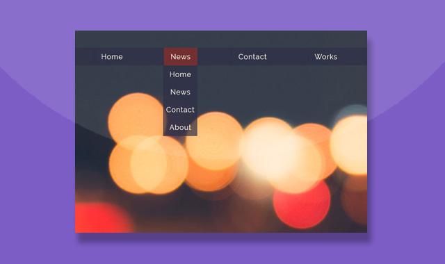 漂亮的纯CSS3下拉导航菜单展开动画特效