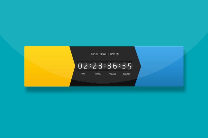 兼容IE8的漂亮jQuery计时器特效插件