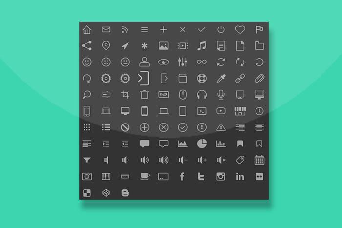 分享100个CC3线性图标样式代码