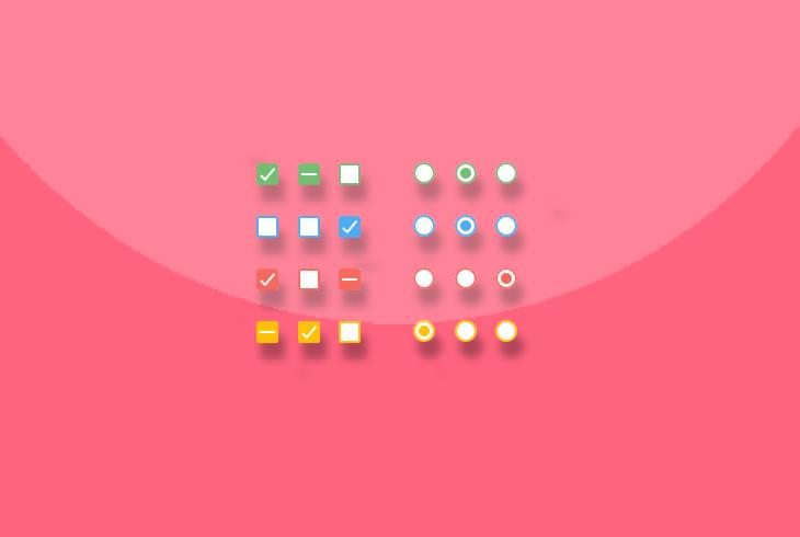 带点击动画特效的CSS3单选框和复选框插件