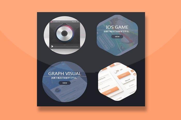 CSS3圆形图片悬停遮罩显示文字特效插件