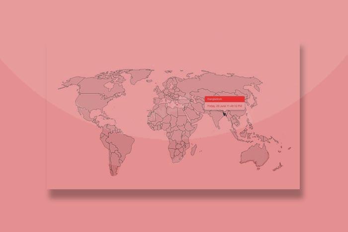带日期和地区提示的jQuery世界地图代码插件