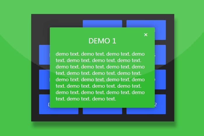 CSS3实现九宫格按钮弹出窗口动画特效代码