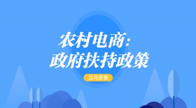 淘宝农村电商:政府扶持政策解读